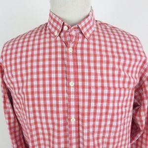 Billy Reid XL Shirt Button Down L/S Checkered